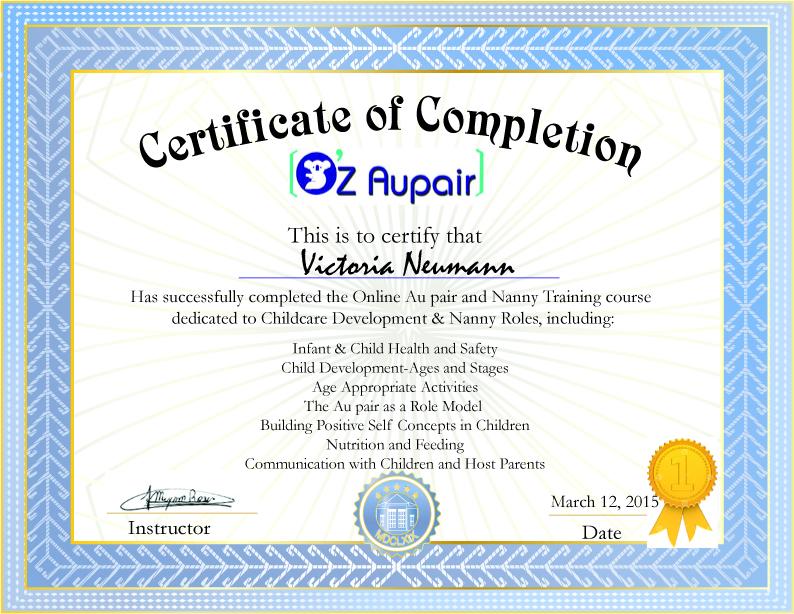 online au pair course