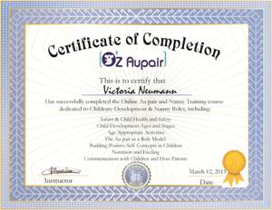 certificate of completion Aupair Australia.jpg